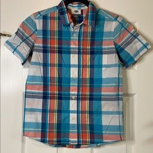 NWT Old Navy Boys' Plaid Button Down Shirt